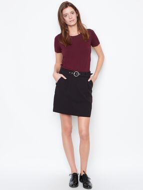 Belted skirt black.