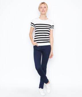 Striped top white.