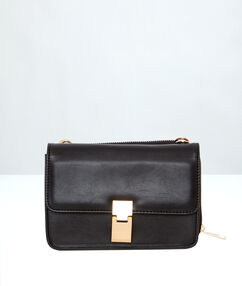 Clutch bag with independent wallet black.