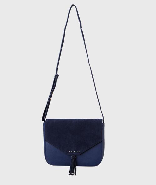 Cross body bag with pompom