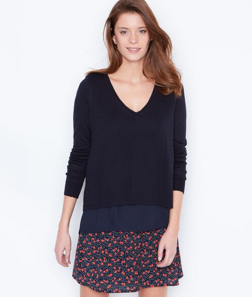 2 in 1 sweater with open back