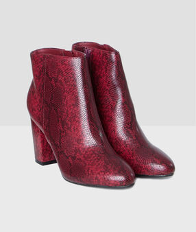 Snake boots burgundy.