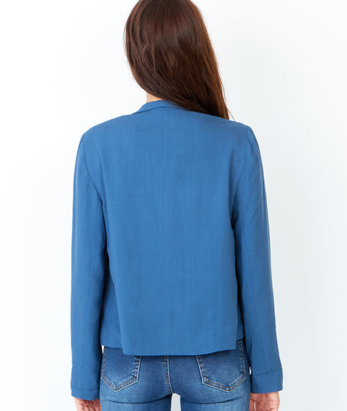 Waterfall jacket with zip pockets