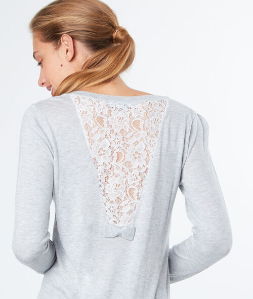 Laced back sweater