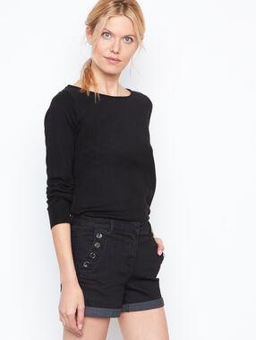 Jean short black.
