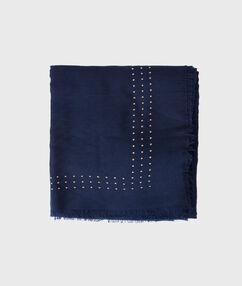 Studded scarf night blue.