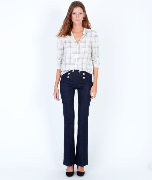 Double button flare jeans