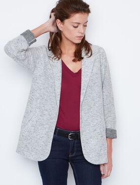 Suit jacket grey.