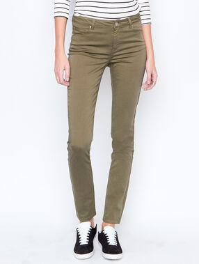 Slim pants khaki.