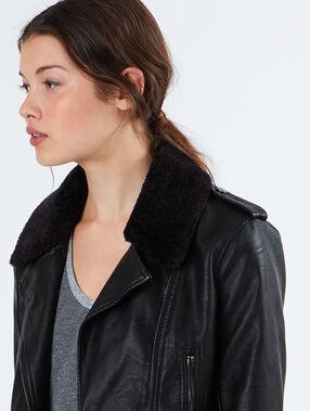 Biker jacket black.