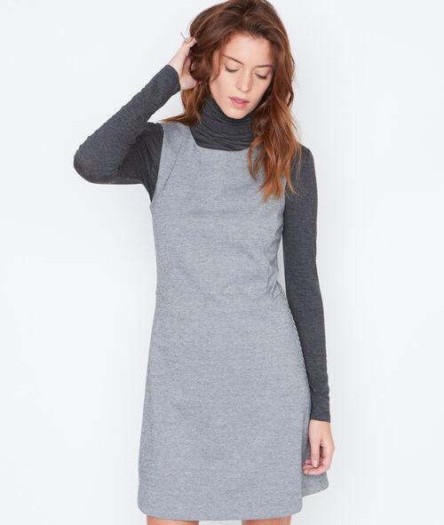 Sleeveless dress in dogstooth