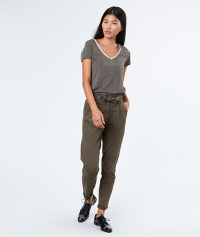 Short sleeves t-shirt khaki.