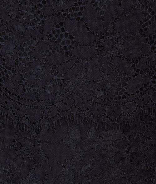 sleeveless guipure dress
