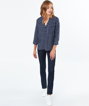 Stripped blouse navy.