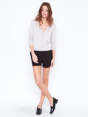 Striped shorts black.