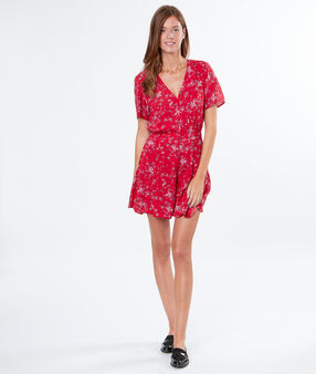 Flowery playsuit red.