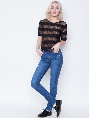 Lace top black.
