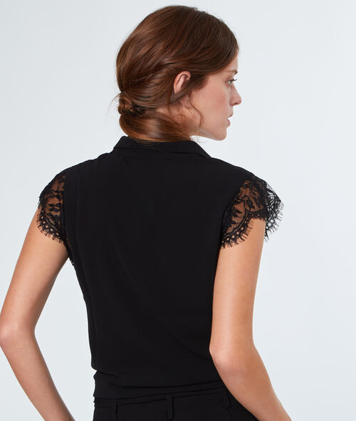 Laced sleeves shirt