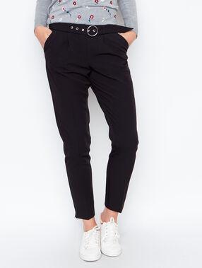 Belted pant black.