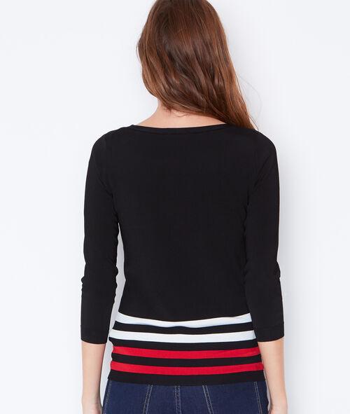 Fine striped sweater