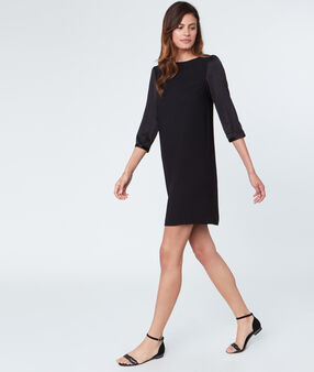 Black dress 3/4 sleeves black.