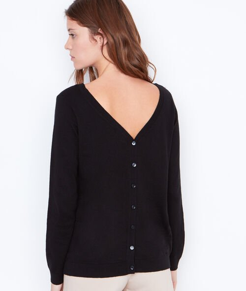 Cardigan with button back detail