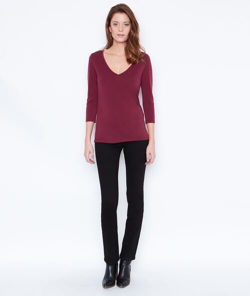 3/4 sleeve top with V-neck