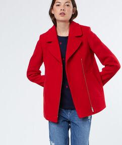 3/4 sleeves coat red.