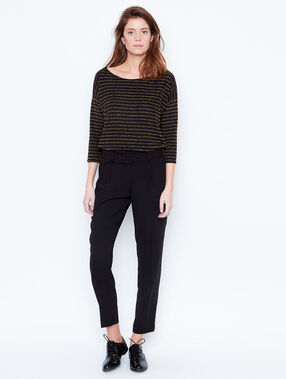 Knit jumper black.