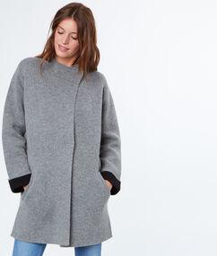 Mid-length jacket grey.