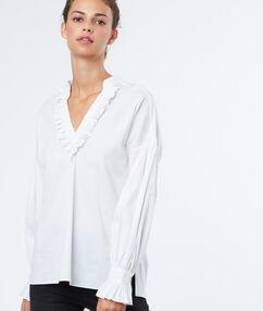 V neck shirt white.