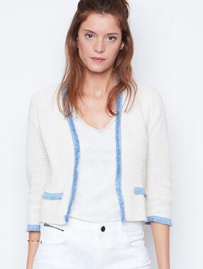 3/4 sleeves jacket ecru.