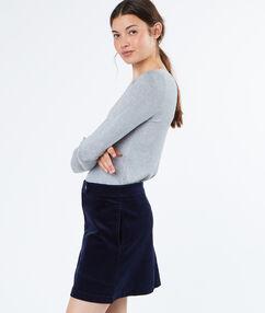 Cotton skirt navy.