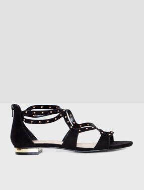 Studded sandals black.