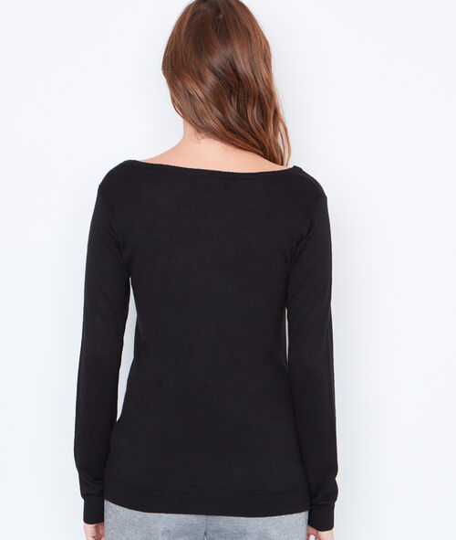 Knitted jumper with butterfly motif