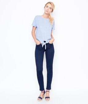 Short sleeves top blue.