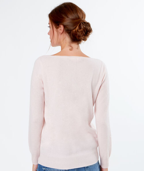 Cashmere sweater sailor collar