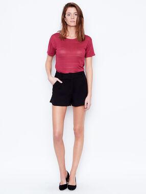 Short sleeve t-shirt burgundy.