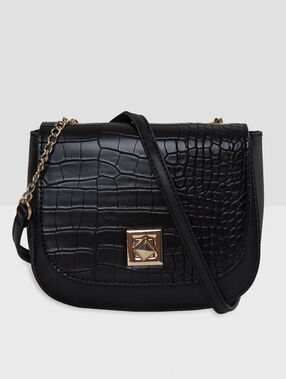 Snake effect bag black.