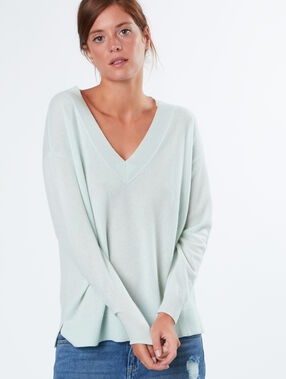 Cashmere sweater v neck mint.