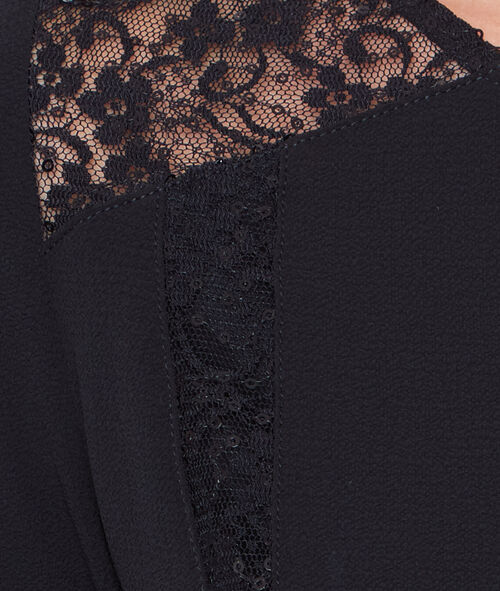 Flare dress with lace details