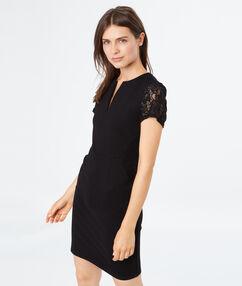 Short sleeves dress black.