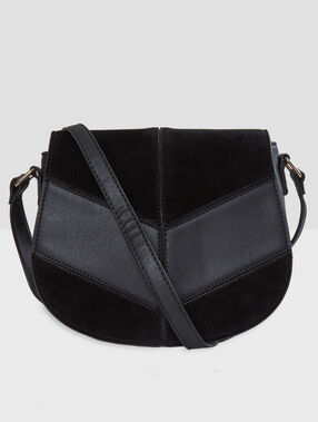 Bi-material bag black.