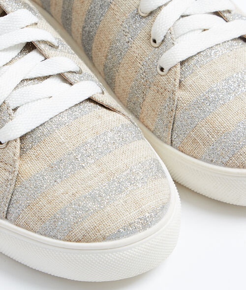 Striped sneakers
