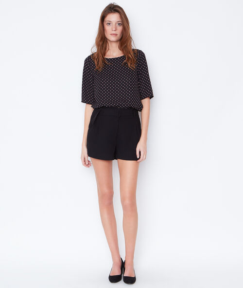 Dotty top with lace back detail