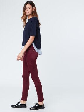 Slim pants plum.