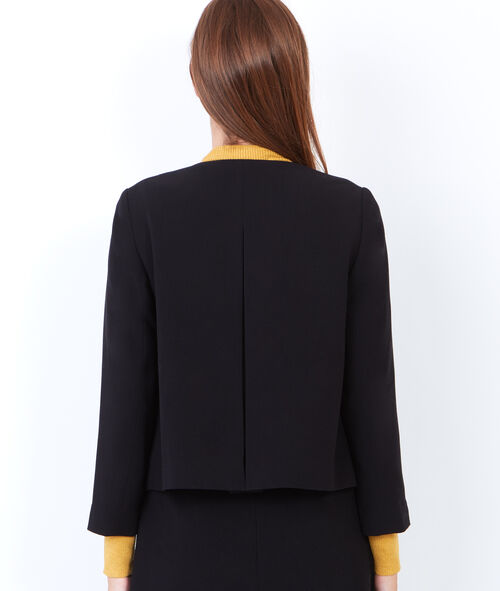Collarless tailored jacket