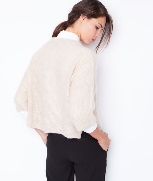 Crop knit sweater