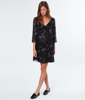 Flowery dress black.