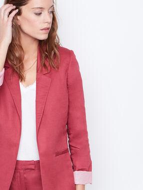 Linen suit jacket currant.